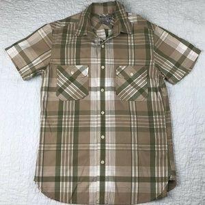 Lucky Brand Men's Plaid Short Sleeved Shirt